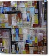 Geometric Modern Painting Original On Canvas Acrylic Print