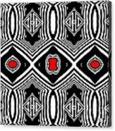 Pattern Black White Red Op Art No.389. Acrylic Print by Drinka Mercep