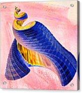 Geometric Shell Art Acrylic Print by Deborah Benoit