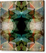 Geometric Textured Abstract  Acrylic Print