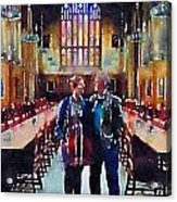 George And Chrissy At Hogwarts Acrylic Print