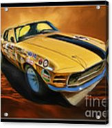 George Follmer 1970 Boss 302 Ford Mustang Acrylic Print