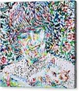George Harrison With Cat Acrylic Print
