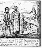 George IIi Cartoon, 1779 Acrylic Print