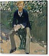 George Moore In The Artist's Garden Acrylic Print