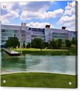George R Brown Convention Center Acrylic Print by Audreen Gieger