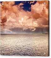 George Town-grand Cayman Rainbow After The Storm Acrylic Print