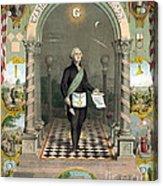 George Washington Freemason Acrylic Print