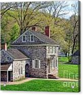 George Washington Headquarters At Valley Forge Acrylic Print by Olivier Le Queinec