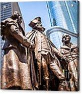 George Washington-robert Morris-hyam Salomon Memorial Statue Acrylic Print