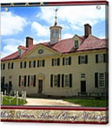 George Washington's Mount Vernon Acrylic Print