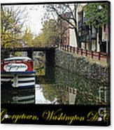 Georgetown Canal Poster Acrylic Print