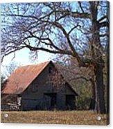 Georgia Barn In Winter Acrylic Print