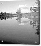Georgia Lake In Black And White Acrylic Print