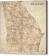 Georgia Map Art Vintage Antique Map Of Georgia Canvas Print Canvas Art By World Art Prints And Designs