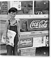 Georgia Newsboy, 1938 Acrylic Print