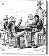 Georgia: Poker Game, 1840s Acrylic Print