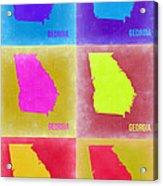 Georgia Pop Art Map 2 Acrylic Print