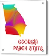 Georgia State Map Collection 2 Acrylic Print