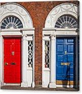 Georgian Doors Acrylic Print by Inge Johnsson