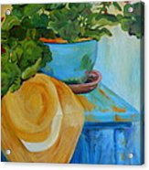 Geraniums And A Hat Acrylic Print