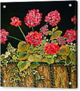 Geraniums Acrylic Print