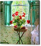 Geraniums In The Bedroom Acrylic Print