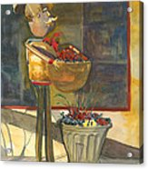 Gere-a-delis Brass Chef Acrylic Print