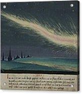 German Comet Illustration Acrylic Print