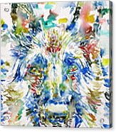 German Shepherd - Watercolor Portrait Acrylic Print
