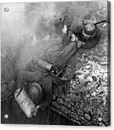 German Soldiers Launch A Suprise Attack On Bunker 17. Acrylic Print