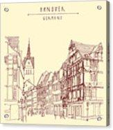 German Town, Walking Street, Timber Acrylic Print