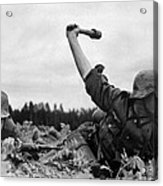 German Troops During The Invasion Acrylic Print