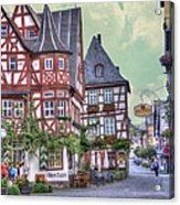 German Village Along Rhine River Acrylic Print