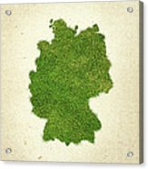 Germany Grass Map Acrylic Print
