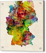 Germany Watercolor Map Deutschland Acrylic Print