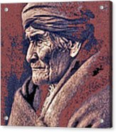 Geronimo  Photographed By Edward S. Curtis  1903-2013 Acrylic Print