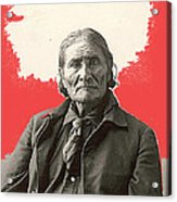 Geronimo Portrait R. Rinehart Photo Omaha Nebraska 1898-2013 Acrylic Print