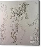 Gestures Of A Man Acrylic Print by Andy Gordon