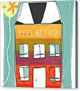 Get Well Card Acrylic Print by Linda Woods