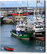 Getaria Fishing Fleet Acrylic Print