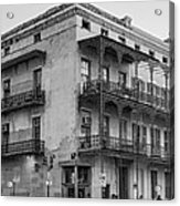 Gettin' By In New Orleans Bw Acrylic Print