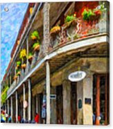 Getting Around The French Quarter - Watercolor Acrylic Print