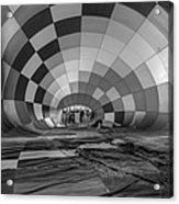 Getting Inflated-bw Acrylic Print