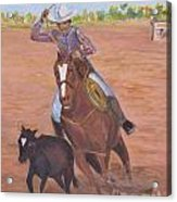 Getting Ready For Rodeo Acrylic Print