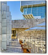 Getty Center Tram Waiting Area Brentwood  Ca Acrylic Print