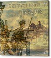 Gettysburg Anniversary 150 Years Acrylic Print