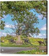 Gettysburg Battlefield 4th New York  Acrylic Print by Randy Steele