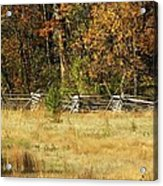 Gettysburg Battlefield October Acrylic Print