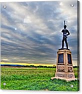 Gettysburg Battlefield Soldier Never Rests Acrylic Print by Andres Leon